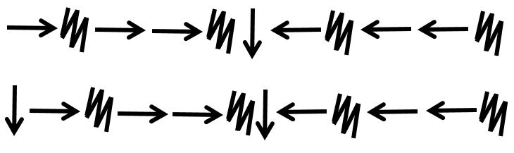 Zapis programu do narysowania szachownicy 4 na 4.