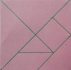 Podział kwadratu na 7 elementów tangramu.
